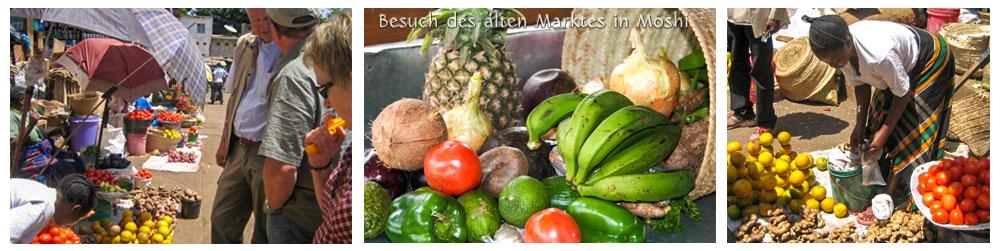 Besuch des alten Marktes in Moshi