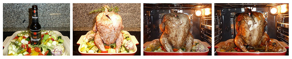 Hühnerbrustfilet auf Gemüse